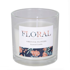 Floral Oriental Flower Scented Candle