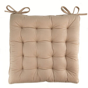 Naomi Cord Kitchen Seat Pad - Biscuit