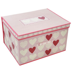 Hearts Foldable Storage Chest - Blush