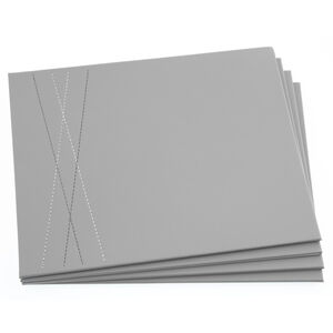 Reversible Leather Placemats - Duck Egg & Grey