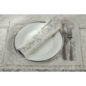 Damask Medallion Placemat 2 Pack - Silver