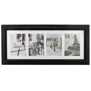 "Simply Black 4 Window 5x7"" Photo Frame"