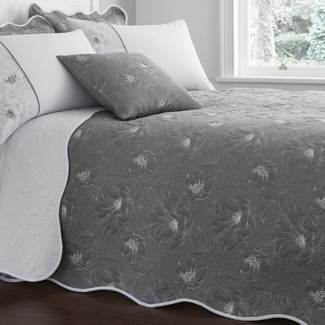 Matelassè Grey Bedspread 220x230cm