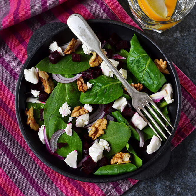 Roasted Beetroot & Feta Salad