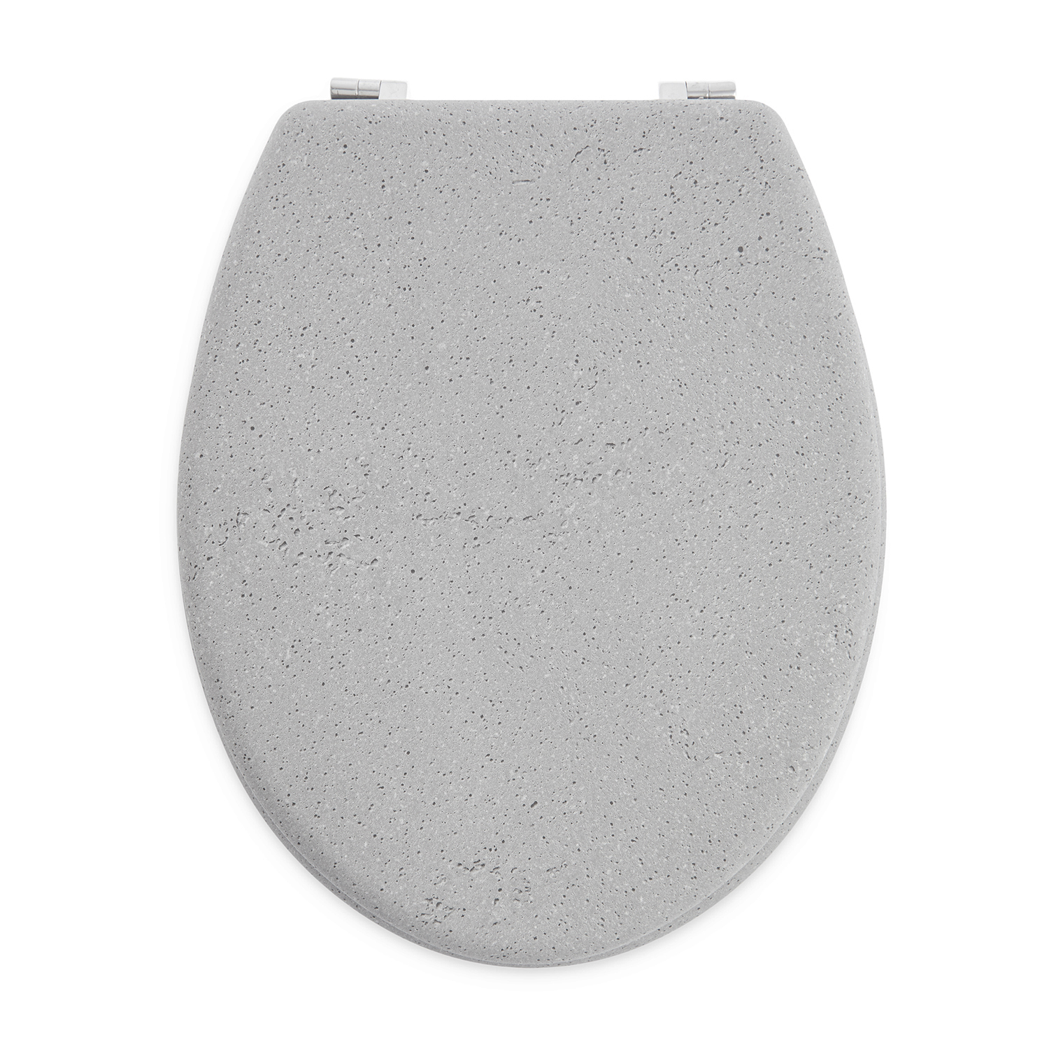 Stone Effect Toilet Seat - Grey