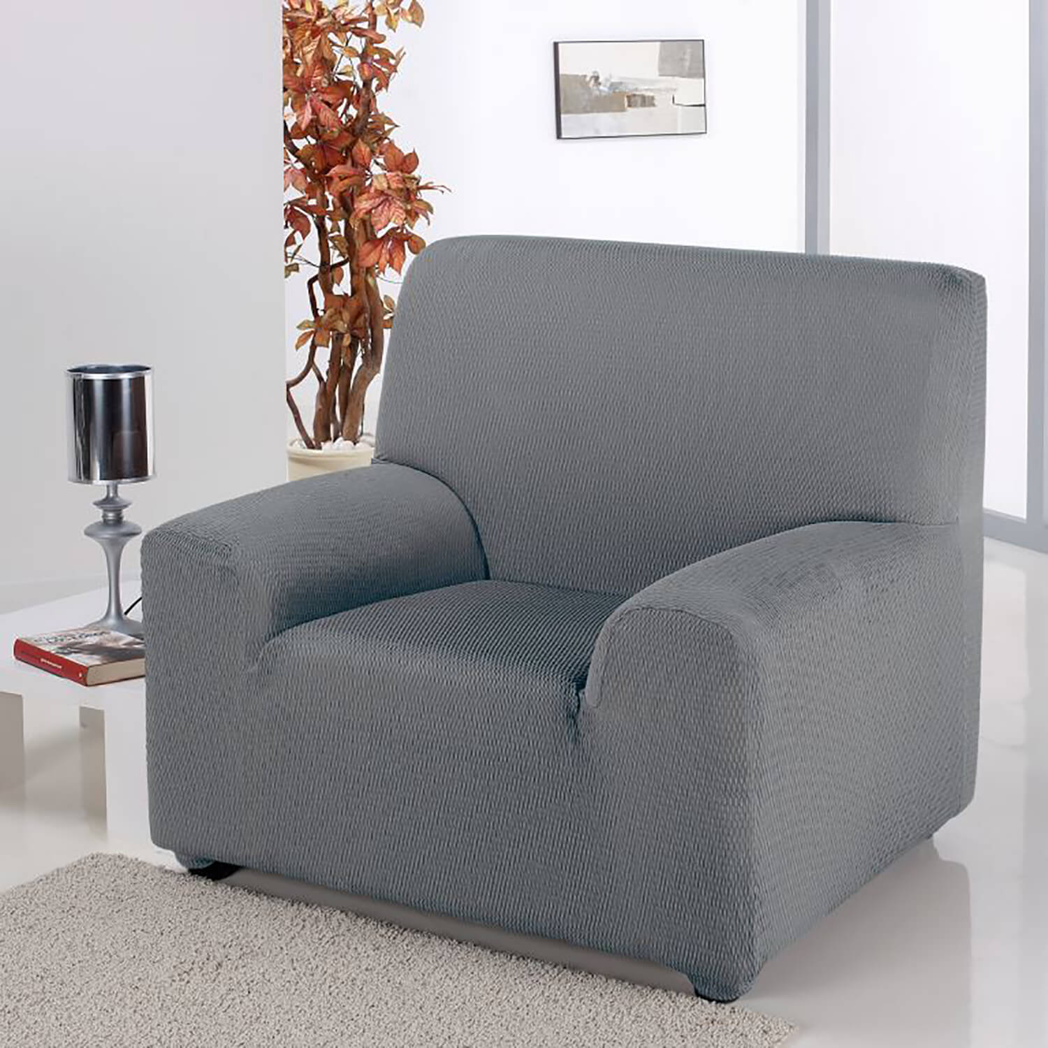 Easystretch Armchair Cover Light Grey Home Store More