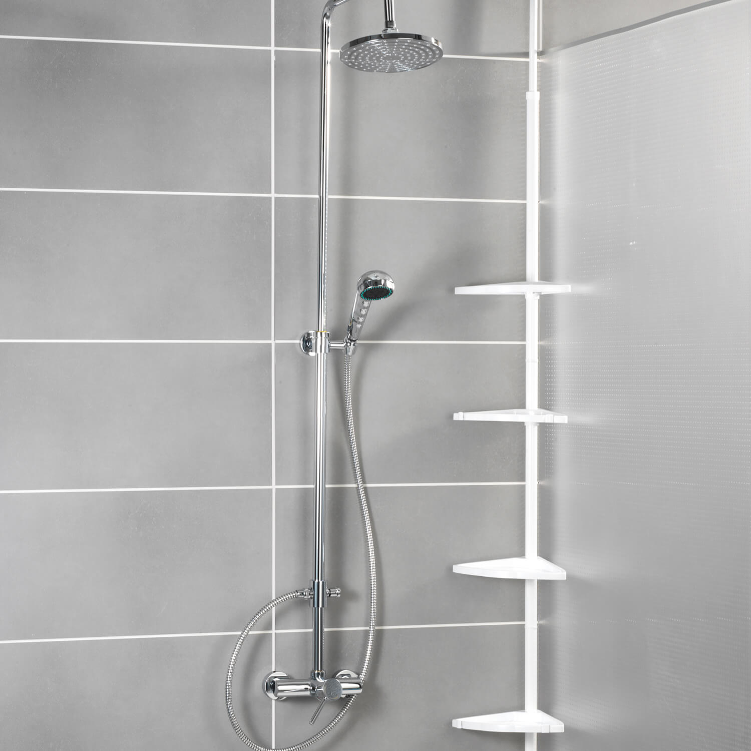 Wenko Compact Telescopic Shower Corner