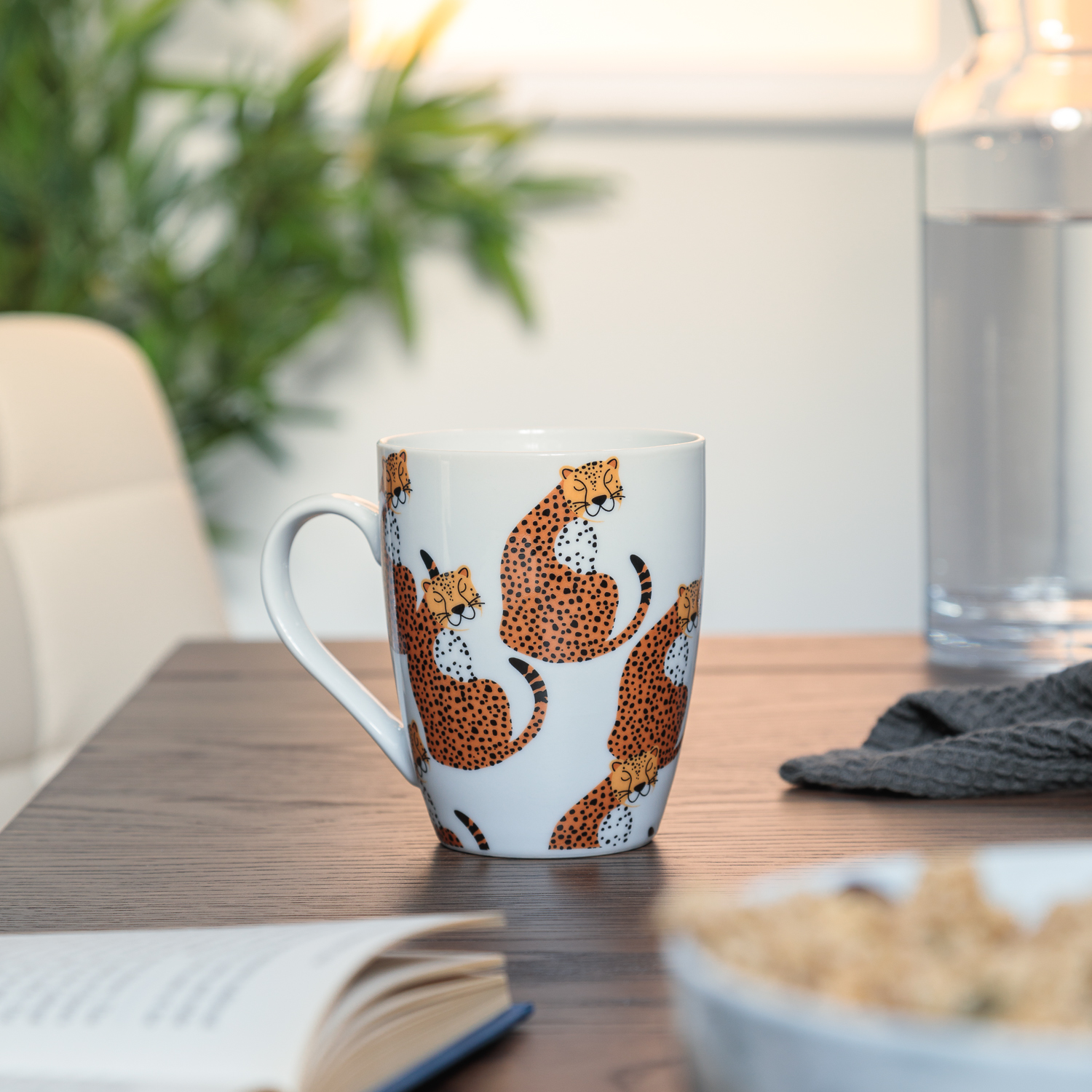 Cheetah Fine China Mug