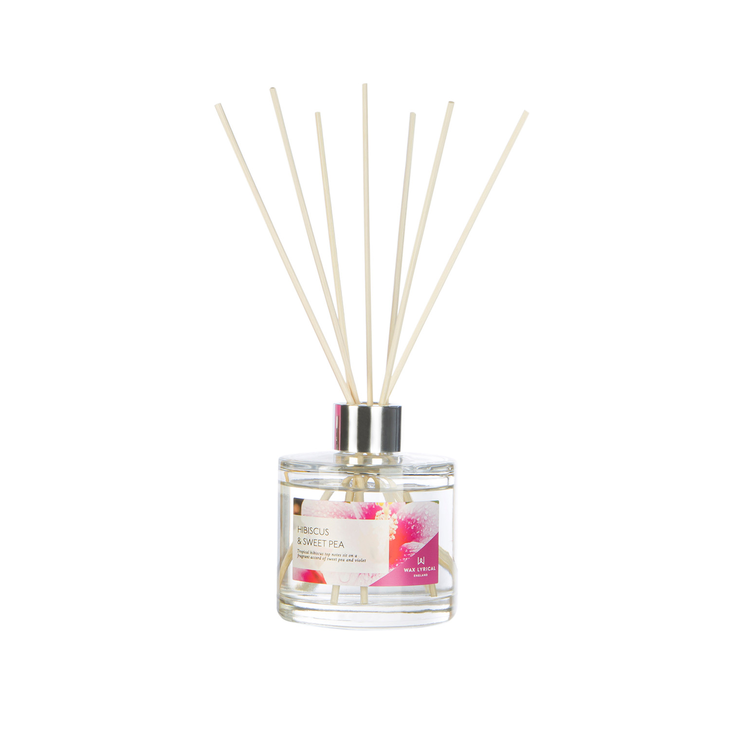 Modern Floral Hibiscus & Sweet Pea Reed Diffuser