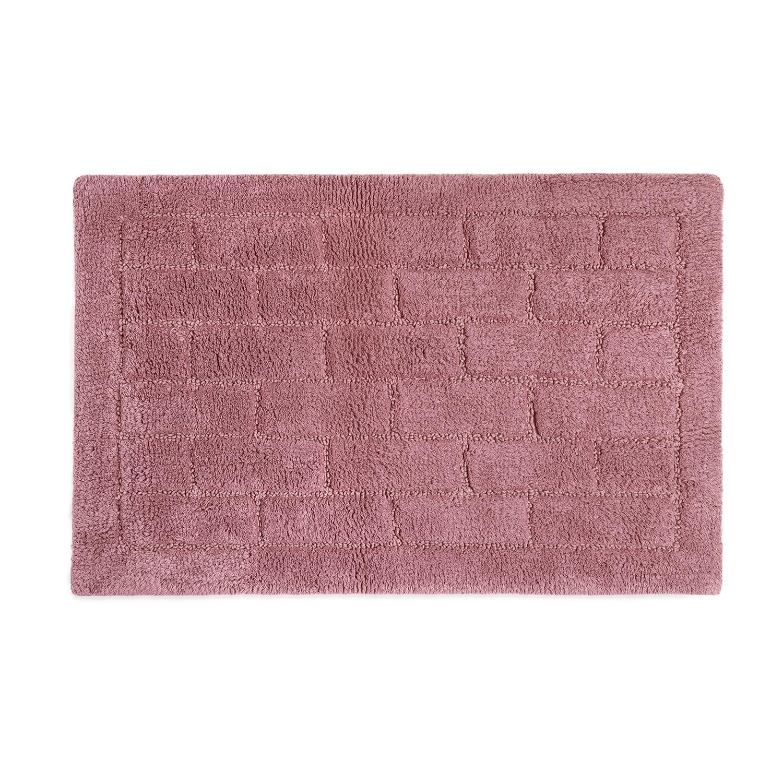 Cotton Brick Blush Pink Bath Mat 50cm X 80cm Home Store More