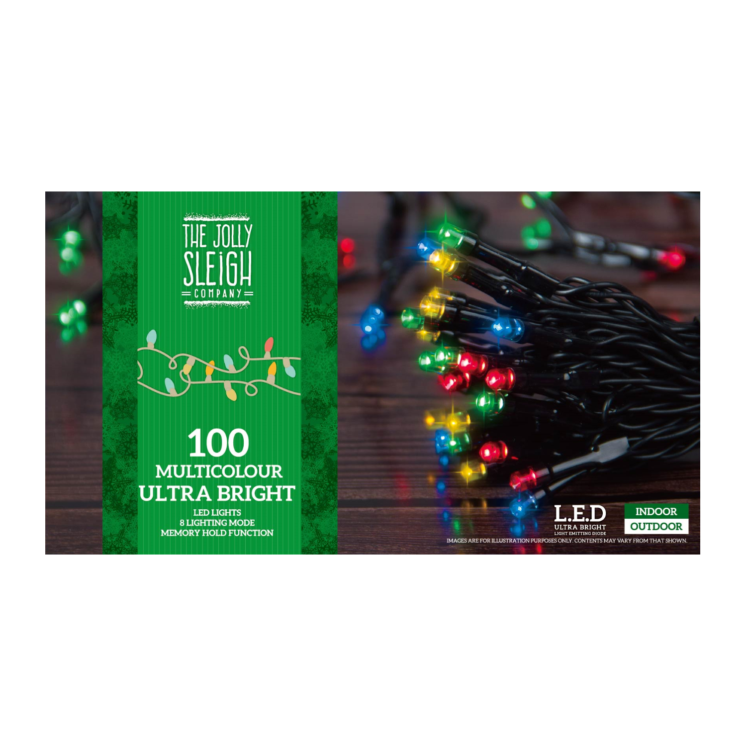 100 Bright LED Chaser Lights Multicolour