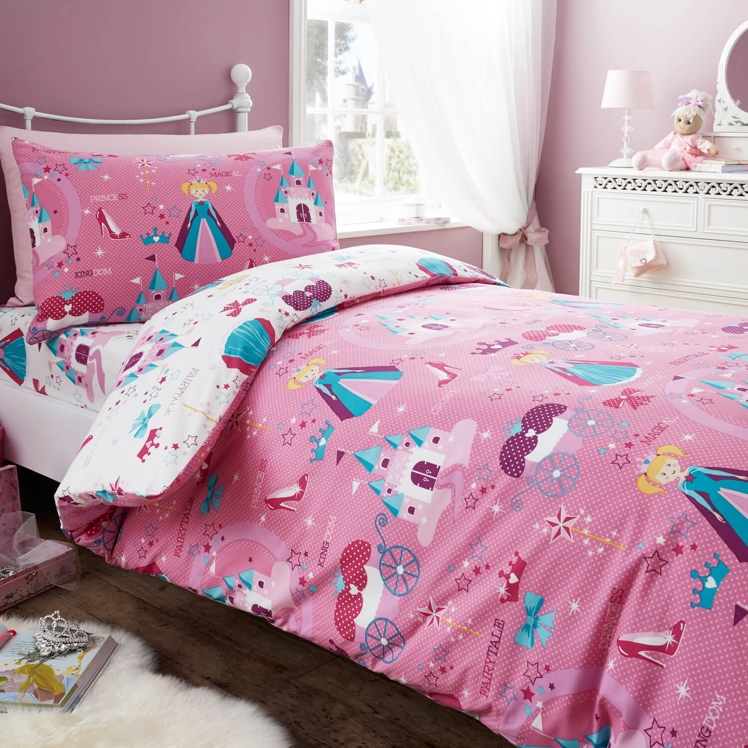 DOUBLE DUVET COVER Princess Magic