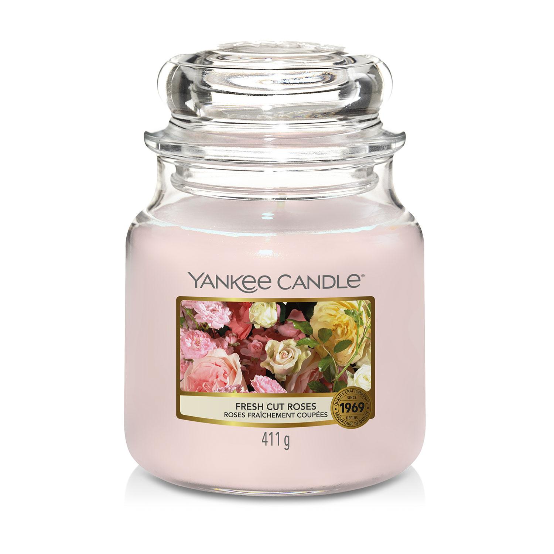Yankee Candle Fresh Cut Roses Medium Jar - Home Store + More