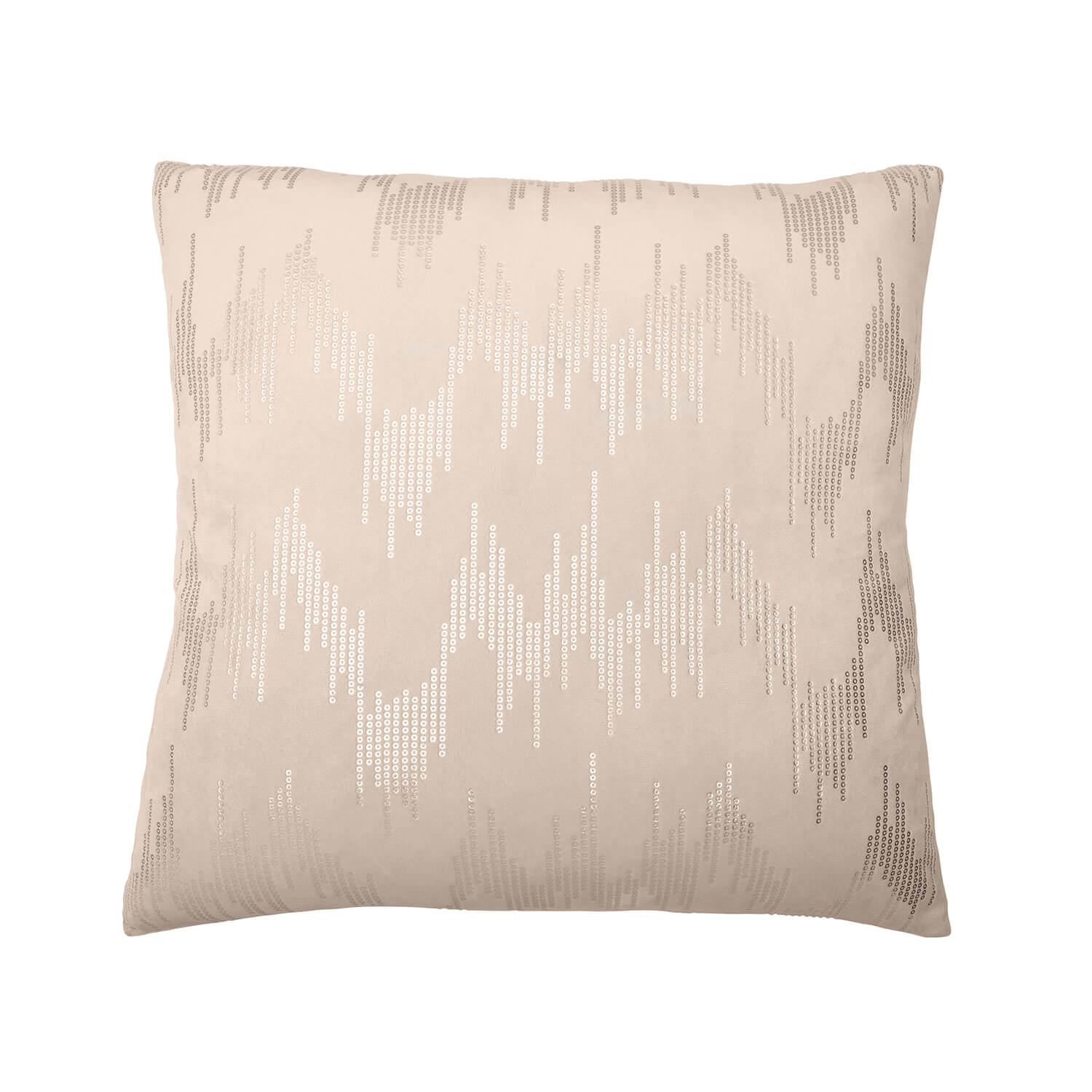 Sequin Velvet Cushion 45x45cm - Ivory