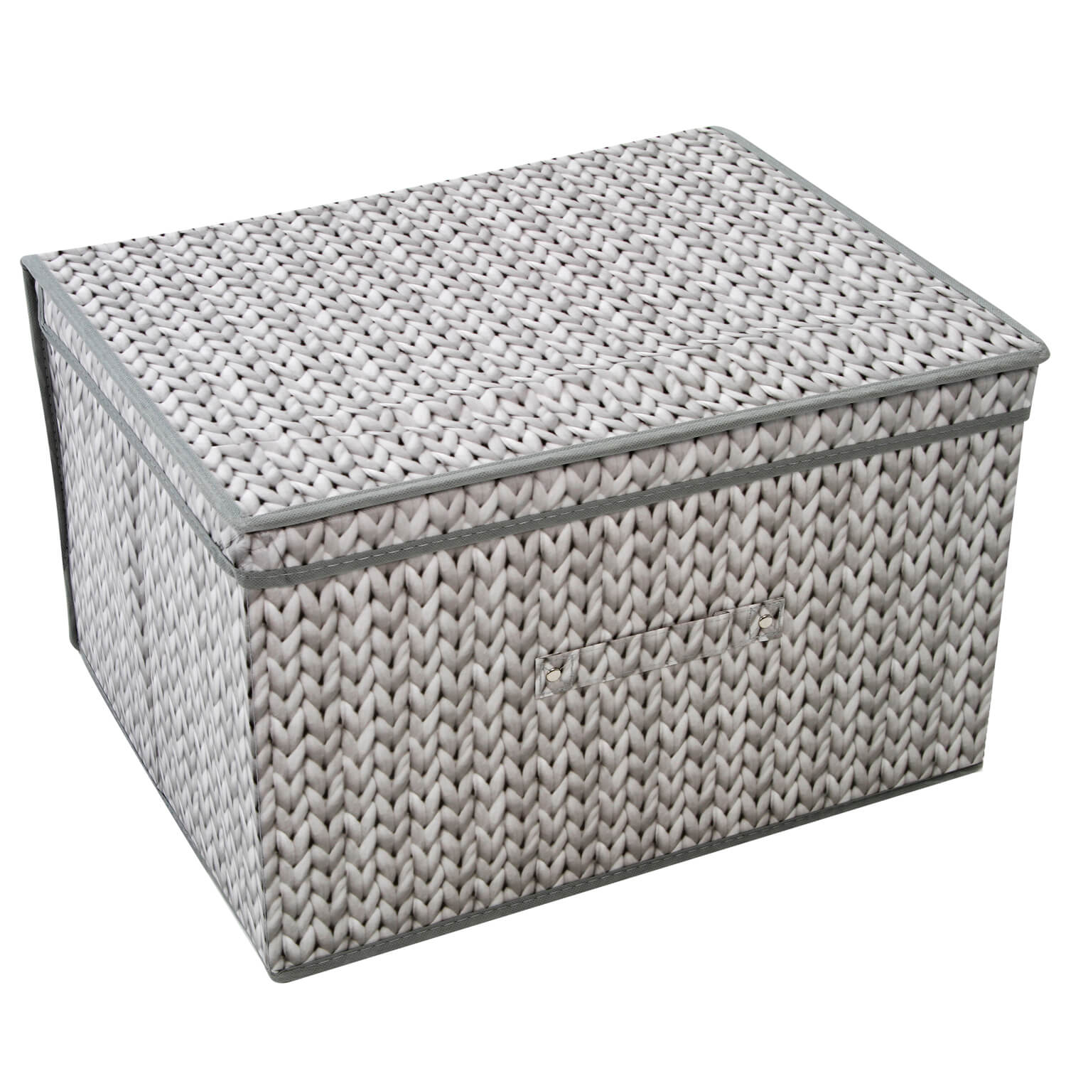 57b02fb90ced Knit Grey Foldable Storage Chest - Home Store + More