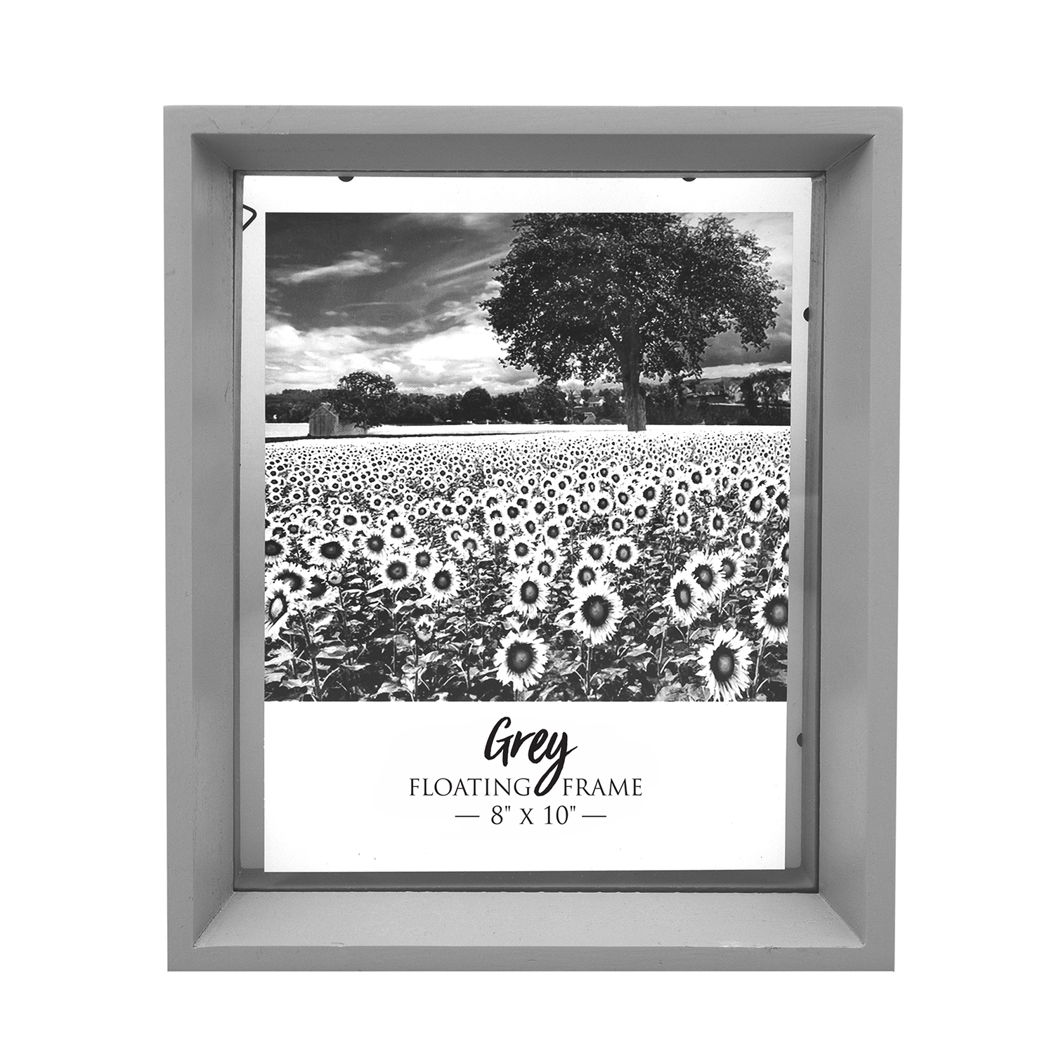"Floating Matt Frame 8"" x 10"" - Grey"
