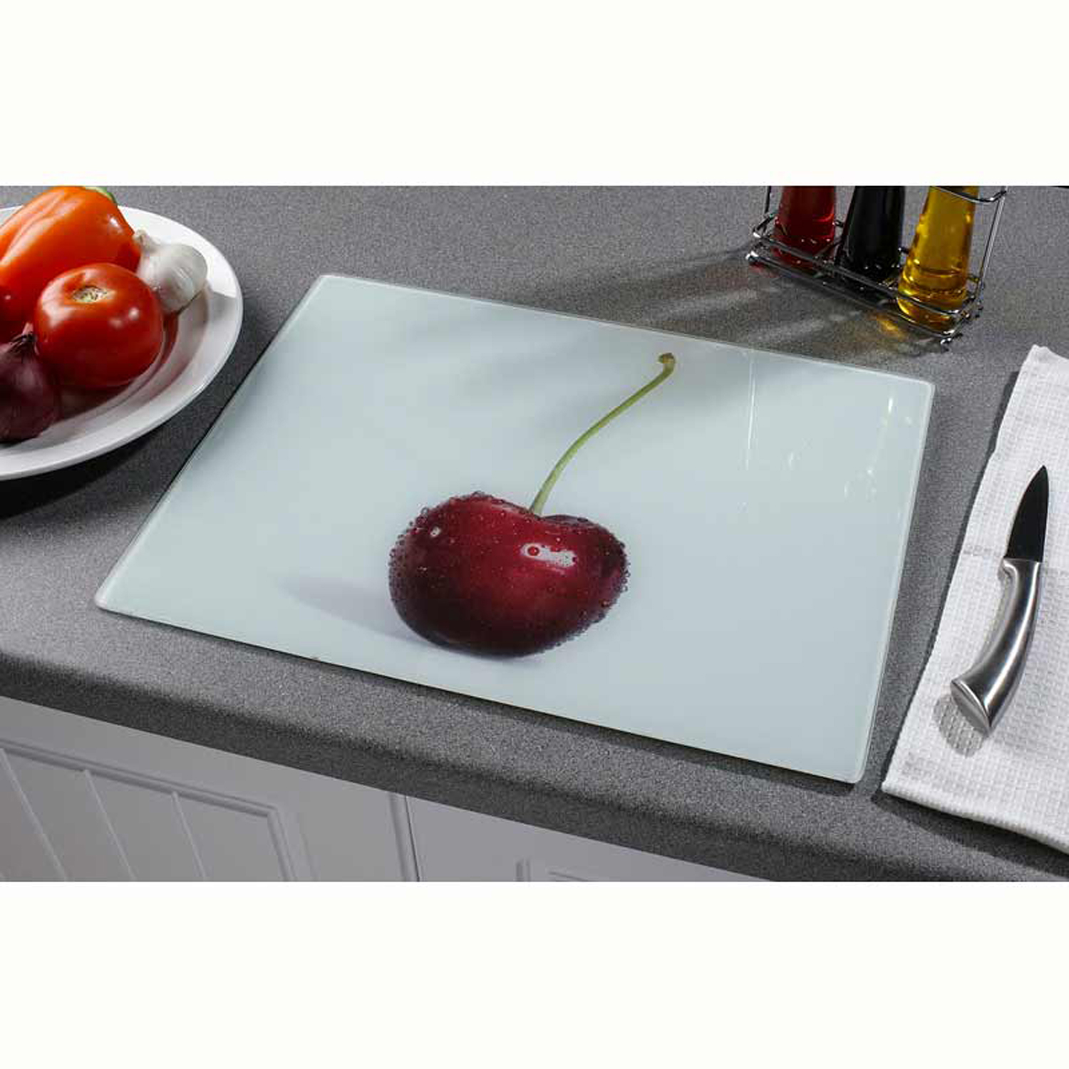 Glass Worktop Saver Cherry - Home Store + More