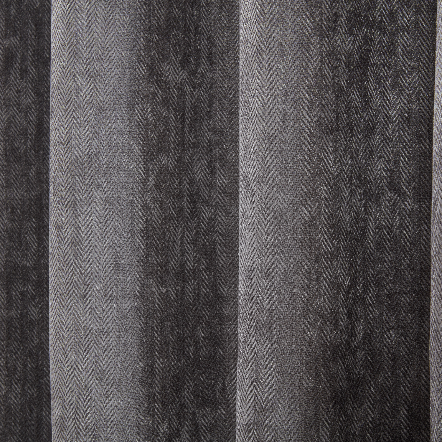 B/OUT & THERMAL H/BONE Deep Charcoal 66x54 Curtain