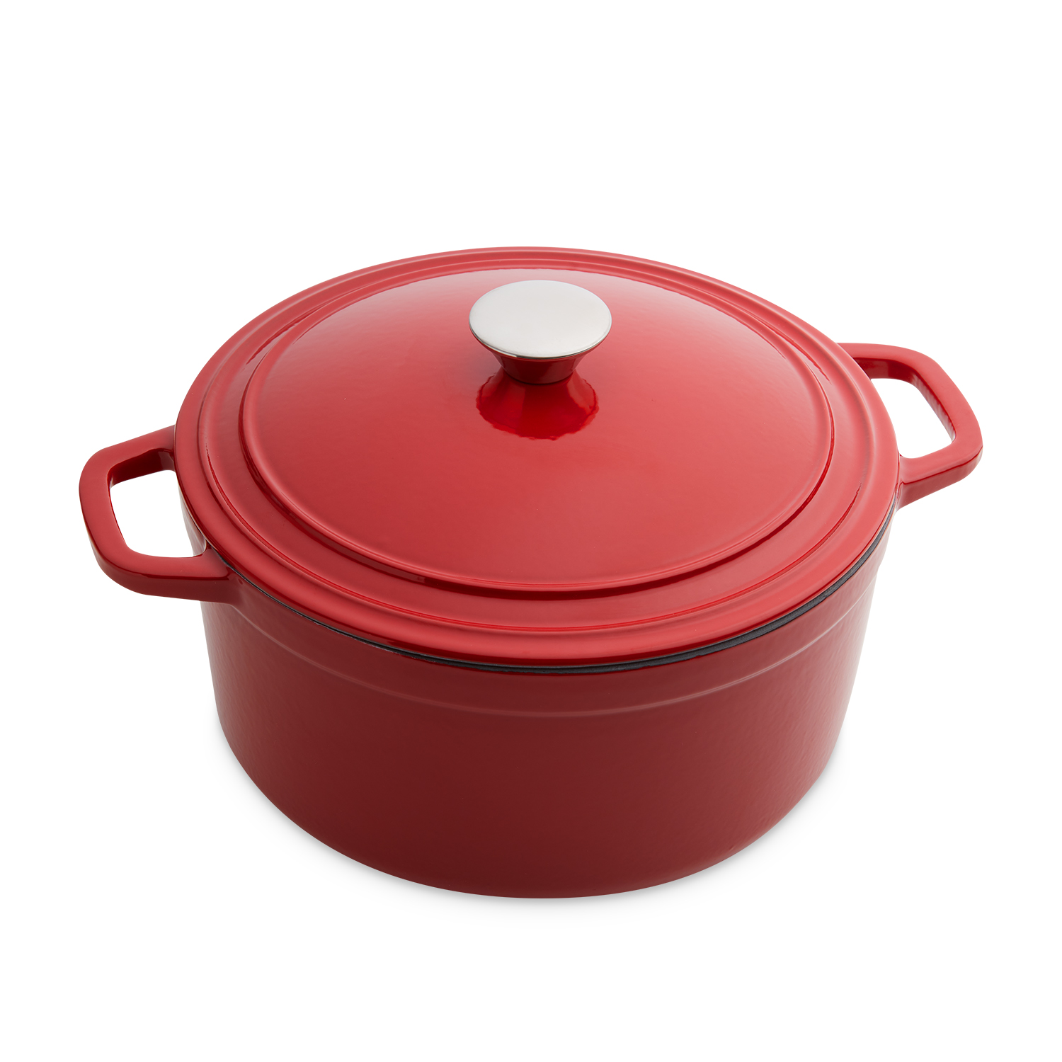 Cast Iron Round Casserole Dish Red 5.2L