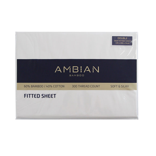 300 Threadcount Bamboo/Cotton Fitted Sheets - White